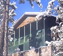 Ruidoso cabin photo - Sandy's Cottage in winter