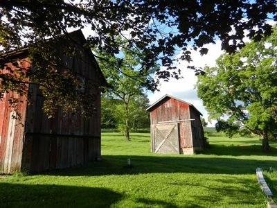 Outbuildings surround the Farmhouse, adding to the country charm.