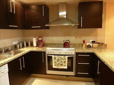 A completely equipped kitchen for your enjoyment.