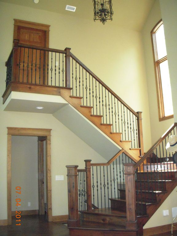 Staircase to upper level bedroom