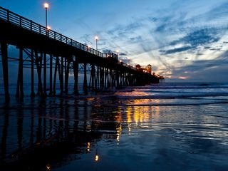 Oceanside condo photo - Sunset walk down to the pier (1/2 mile)