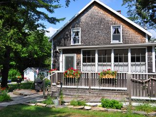 Peaks Island cottage photo - Our Cottage....'Evergreen Anchorage'....East End Porch and Entrance.