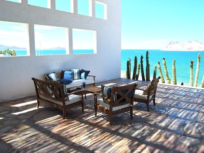Beachside Patio in the morning.