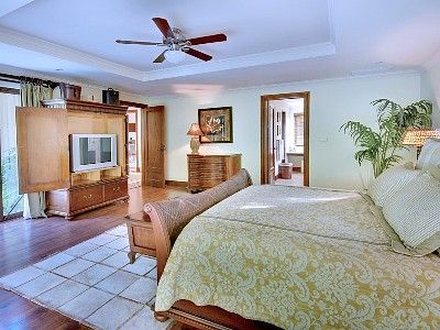 Los Suenos Resort house rental - Main floor master with King bed.