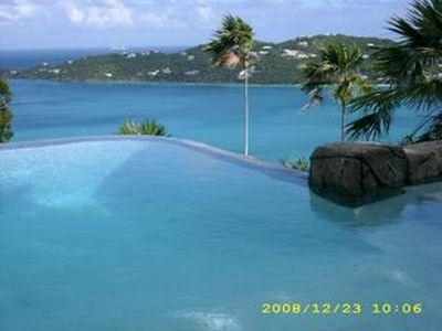 Infinity Edge Pool with Magens Bay.
