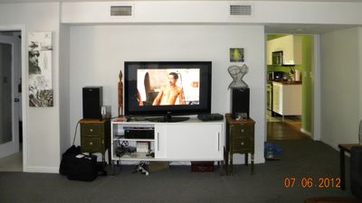 "part of living room- has 50"" HDTV"