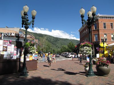 Downtown Aspen in the summer.