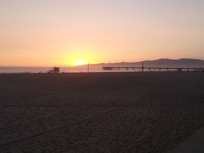 Wow.....you can see all the way to Malibu!  Let's walk down to the Venice Pier