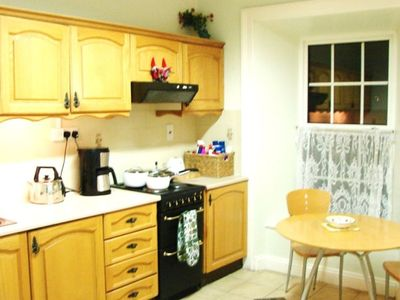 Spacious Kitchen with dining table - seats 4 to 6
