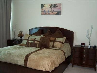 Master Bedroom, King Bed with mounted 42' flat screen