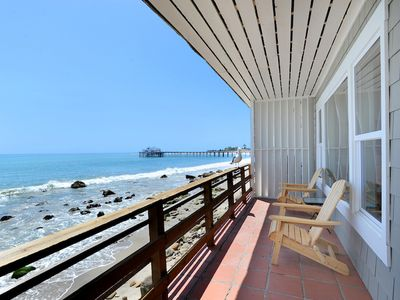 Oceanfront deck with unobstructed ocean views