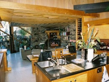 Kitchen/Living Room Door Opens to Beachside Patio