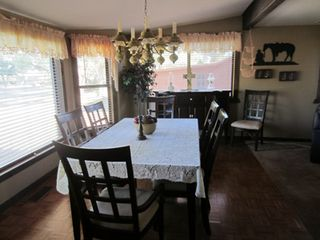 Roosevelt cabin photo - Large dining area, extra chairs in the garage