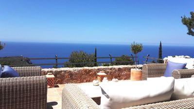 Luxury seaview villa/house with private heated pool, situated in idyllic Deia.