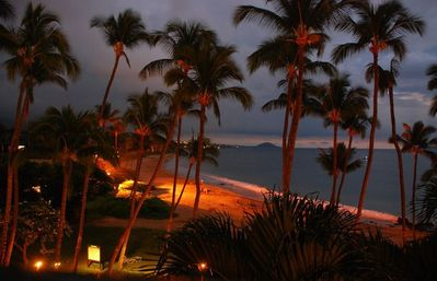 Keawakapu Beach at Night, Right in Front of the Mana Kai Maui Resort