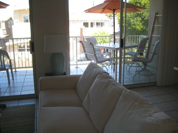 Living Area / Deck with Outside Dining
