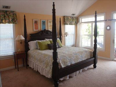 Master Bedroom: King Bed, Vaulted Ceiling