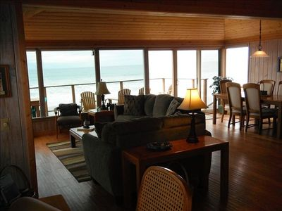 The great room provides a great place to relax while enjoying the ocean views.