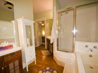 Austin house photo - Roomy master bath has separate shower and bathtub, as well as two sinks. : )