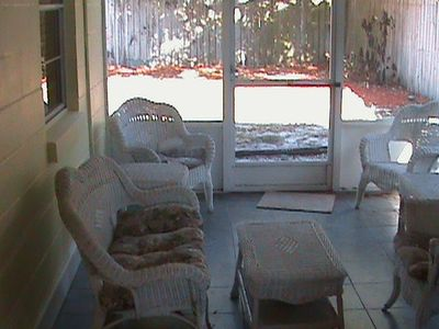Have a rest in our screened in porch.