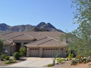 Scottsdale Troon house photo - Incredible mountain view with you vacation home in front!