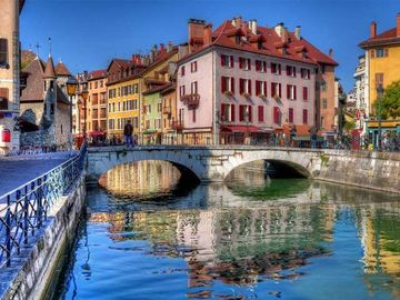 Beautiful old Annecy is only a short drive