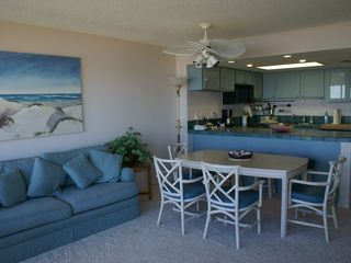 South Padre Island condo photo - Living Room / Dining Area / Kitchen