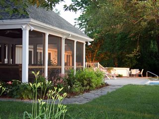 St. Michaels house photo - Large beautiful screened in porch to relax while watching the fun in the pool.