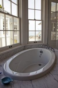 Avila Beach house rental - Front Master Bathroom with a view
