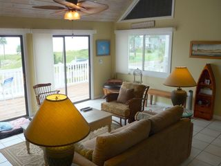 Port St. Joe house photo - Nice spacious living room with great Gulf views.