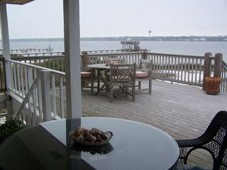 Gulf Shores house photo - Imagine yourself here! One of two decks with wonderful views of the water!