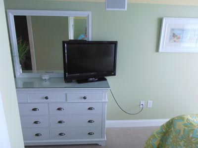 Second bedroom with queen bed and tv