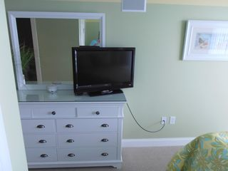 Belmont Towers Ocean City condo photo - Second bedroom with queen bed and tv