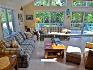 Katama house photo - Sunny Living Area Has Ample Seating