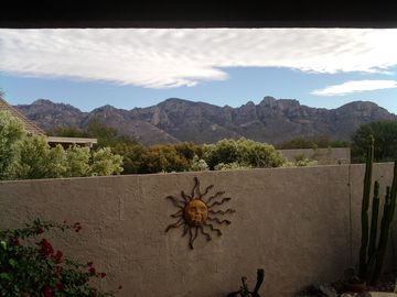 Oro Valley house rental - Sitting on the Patio, this is the view on 11/18/2010