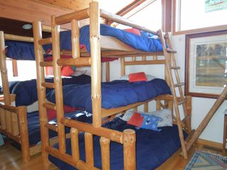 Elkhorn house photo - The best bunk of all is to the right, a king-sized upper level spot for forts!