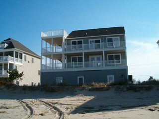 Broadkill Beach house photo - House facing bay & beach