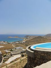 Mykonos villa photo - Stunning view of Kalafatis Bay