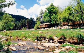 Payson cabin photo - Creek with View of Resort at the Kohl's Ranch Lodge