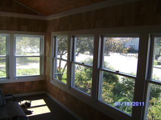 Winter Harbor house photo - Sun porch looking out on Main Street