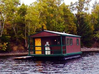 Moosehead Lake S Only Floating Camp Homeaway Greenville