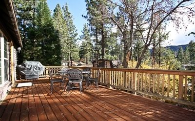 Huge Rear Deck with BBQ Grill, Views of Ski Slopes and Pine Trees