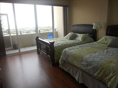Second bedroom has two queen beds and a beautiful view of the intracoastal