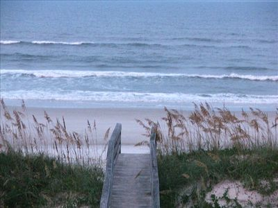 A 3 minute walk from condo across dunes to beach