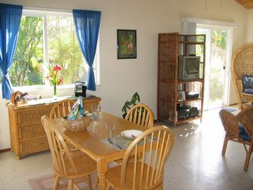 Hale Kiele's bright, spacious dining area for you and your guests