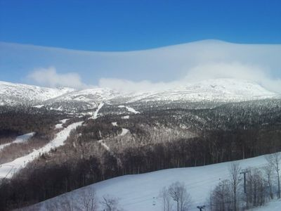 Mt. Mansfield -the highest peak in Vermont- makes Stowe the best skiing in East