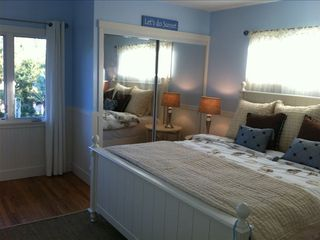 Upstairs bedroom with a King Sized Bed
