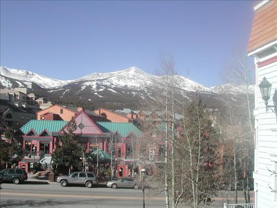 This view from your deck and front room. The street shown is Main St.