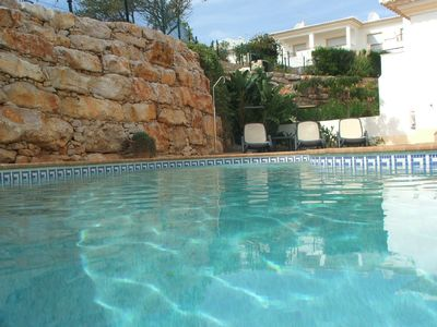 Luxury Villa with sea view, heated pool, air con, close to beach, marina & town