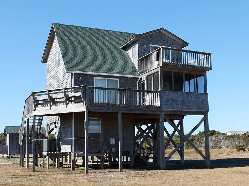 Oceanside 3 bedroom 2 bath cottage with homeaway for Hatteras cabins rentals